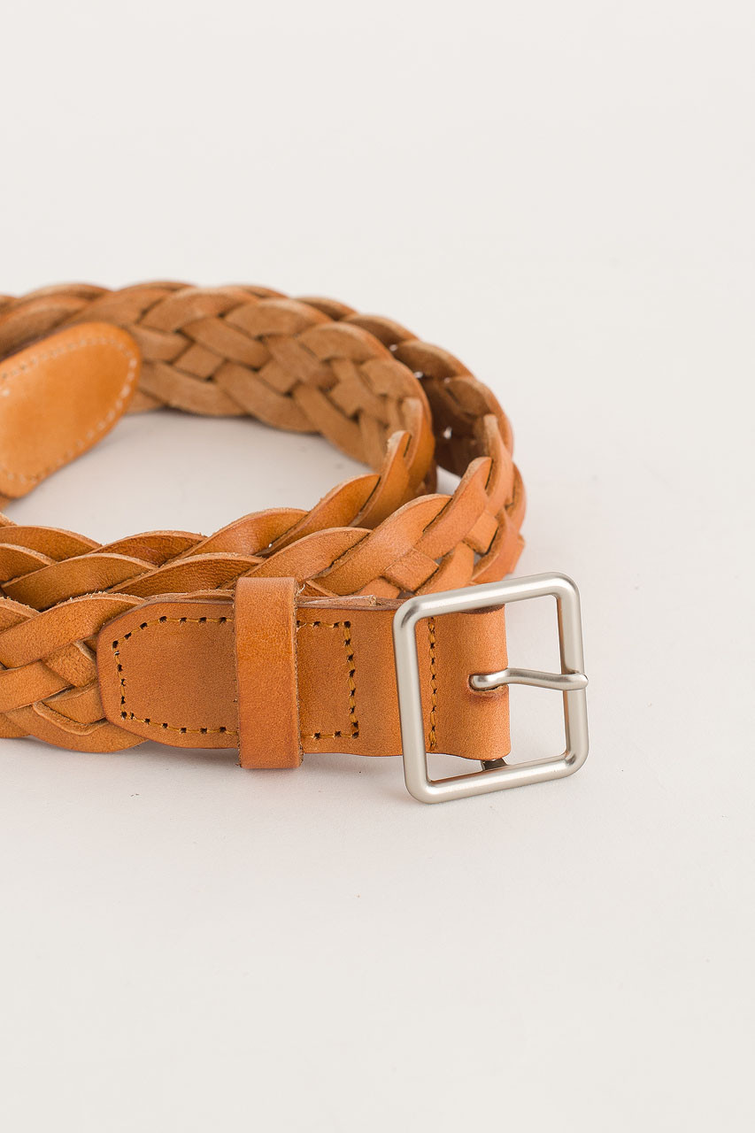 Cable Belt, Tan