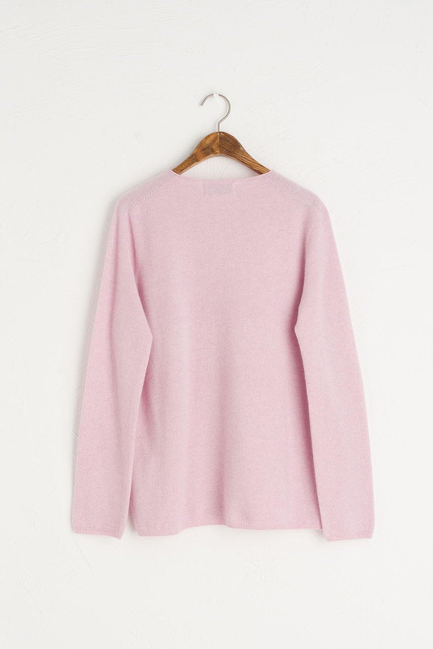 Seamless Lip Neck Jumper, Pink