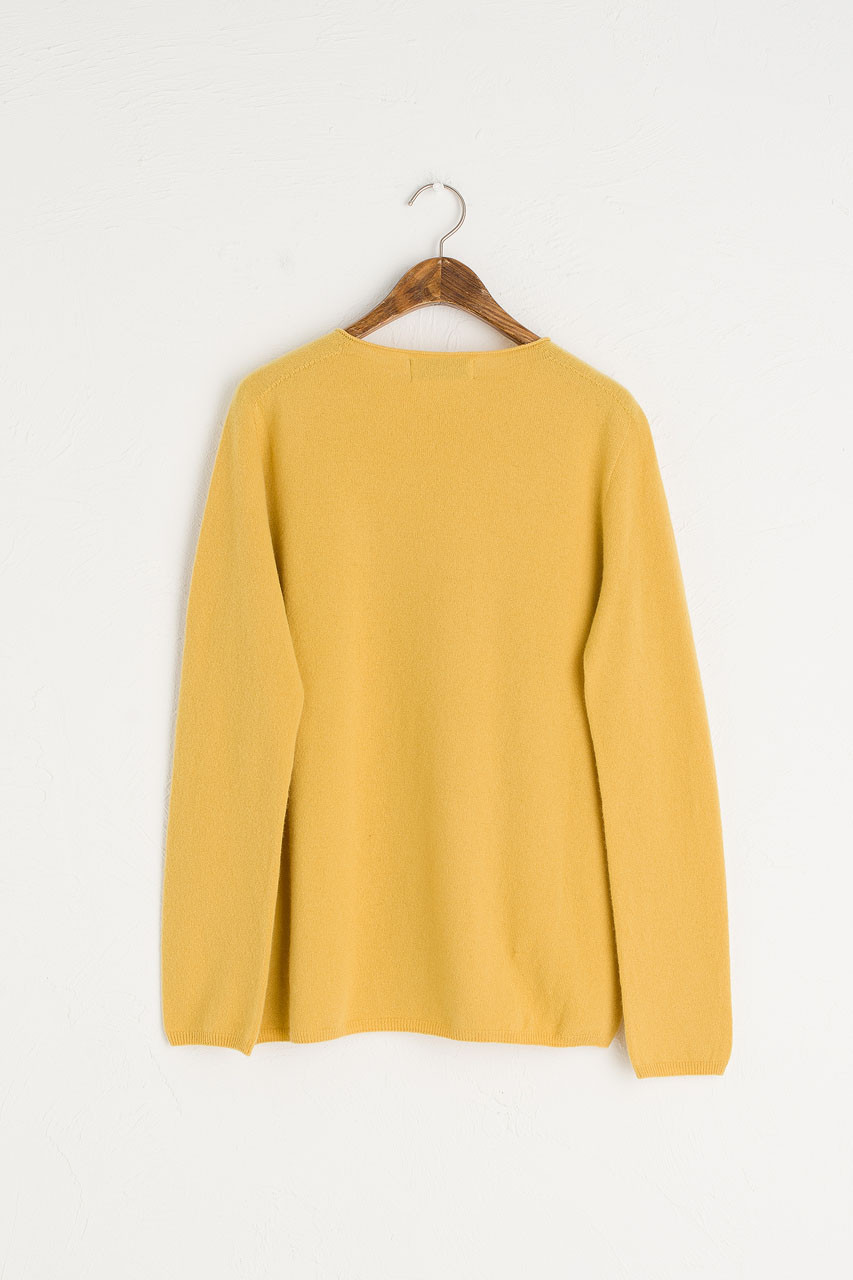 Seamless Lip Neck Jumper, Yellow