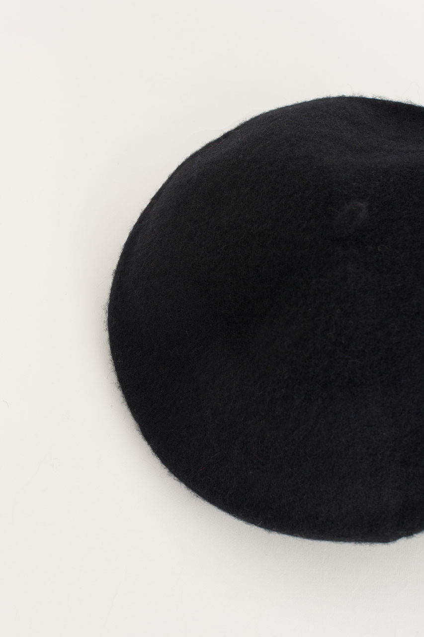 18 Wool Beret, Black