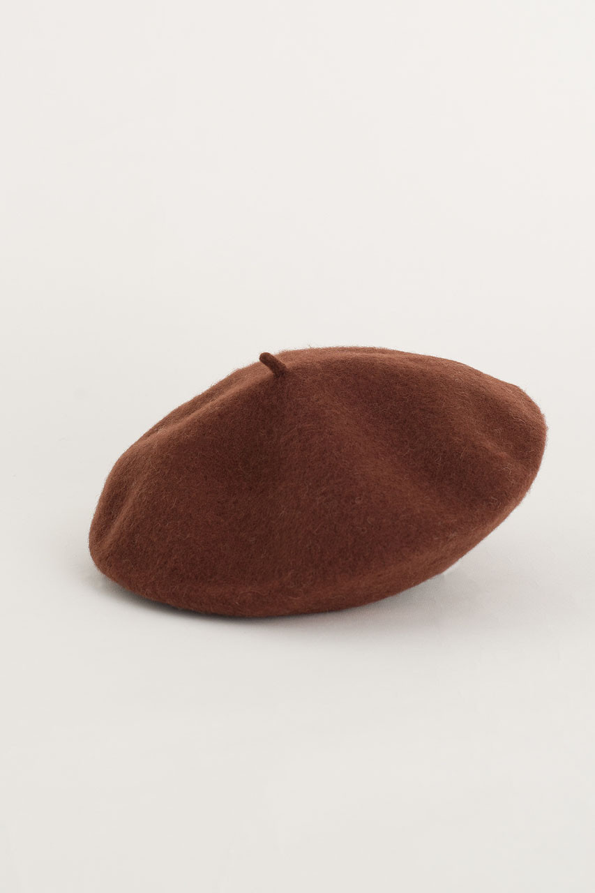 18 Wool Beret, Brown