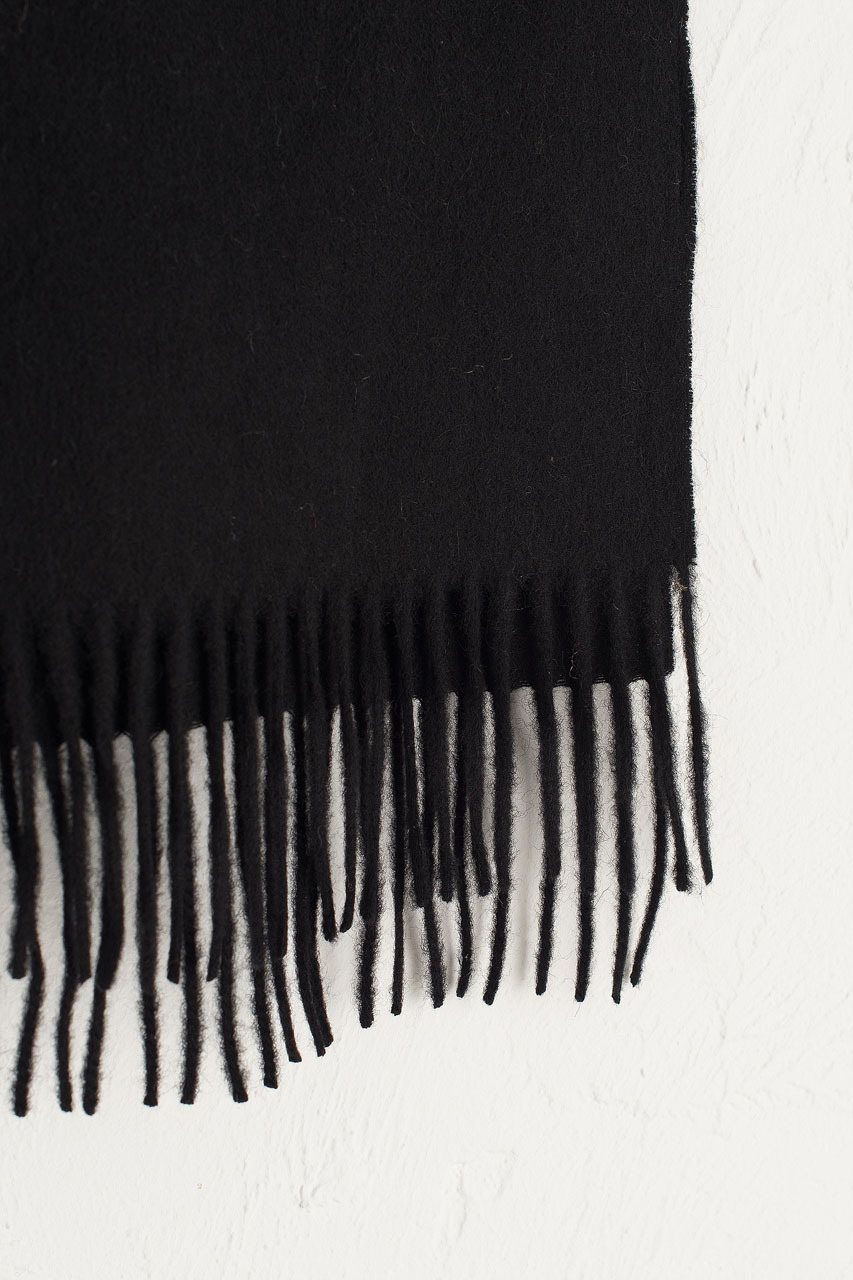 A/W 19 Mini Wool Scarf, Black