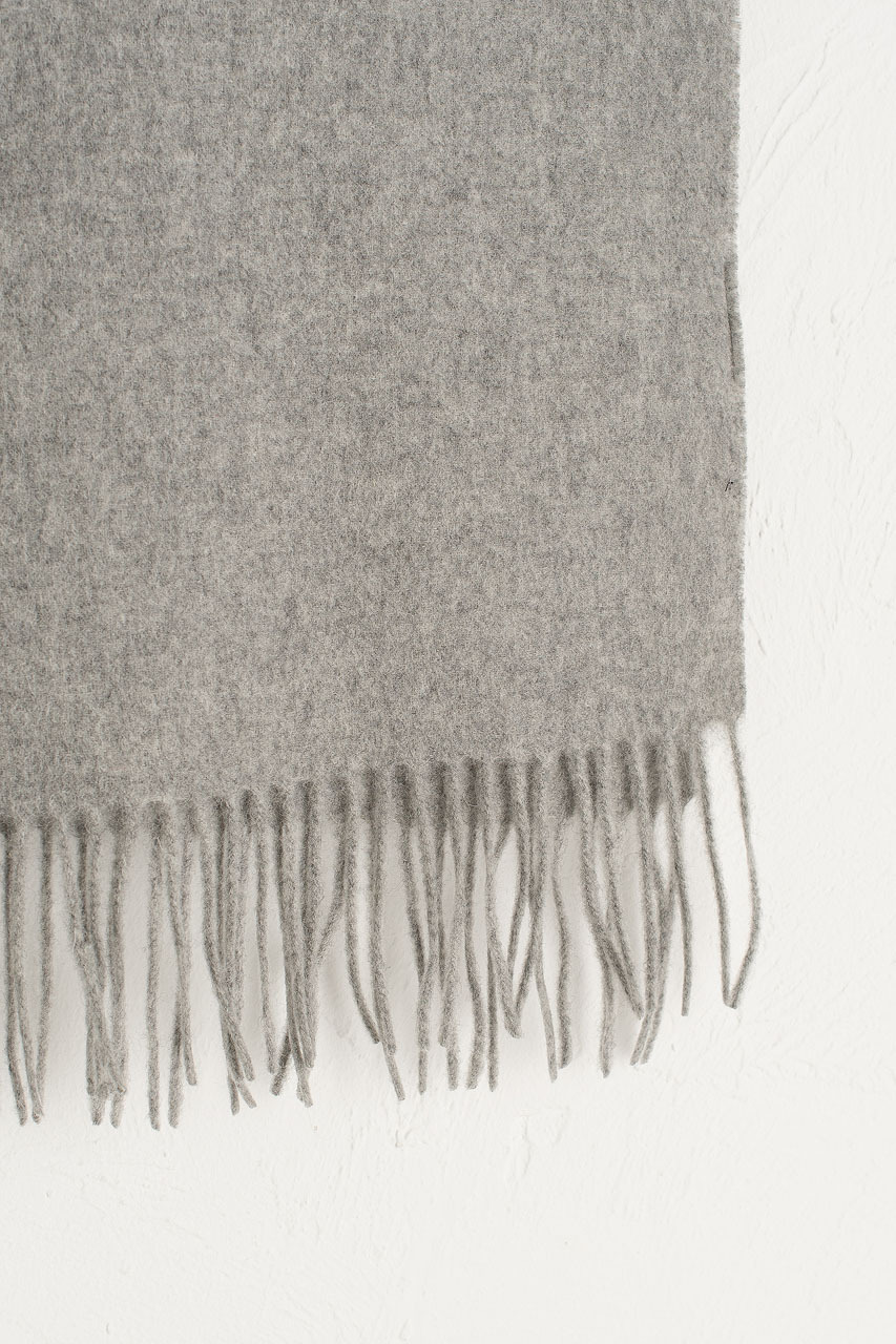 A/W 19 Mini Wool Scarf, Light Grey