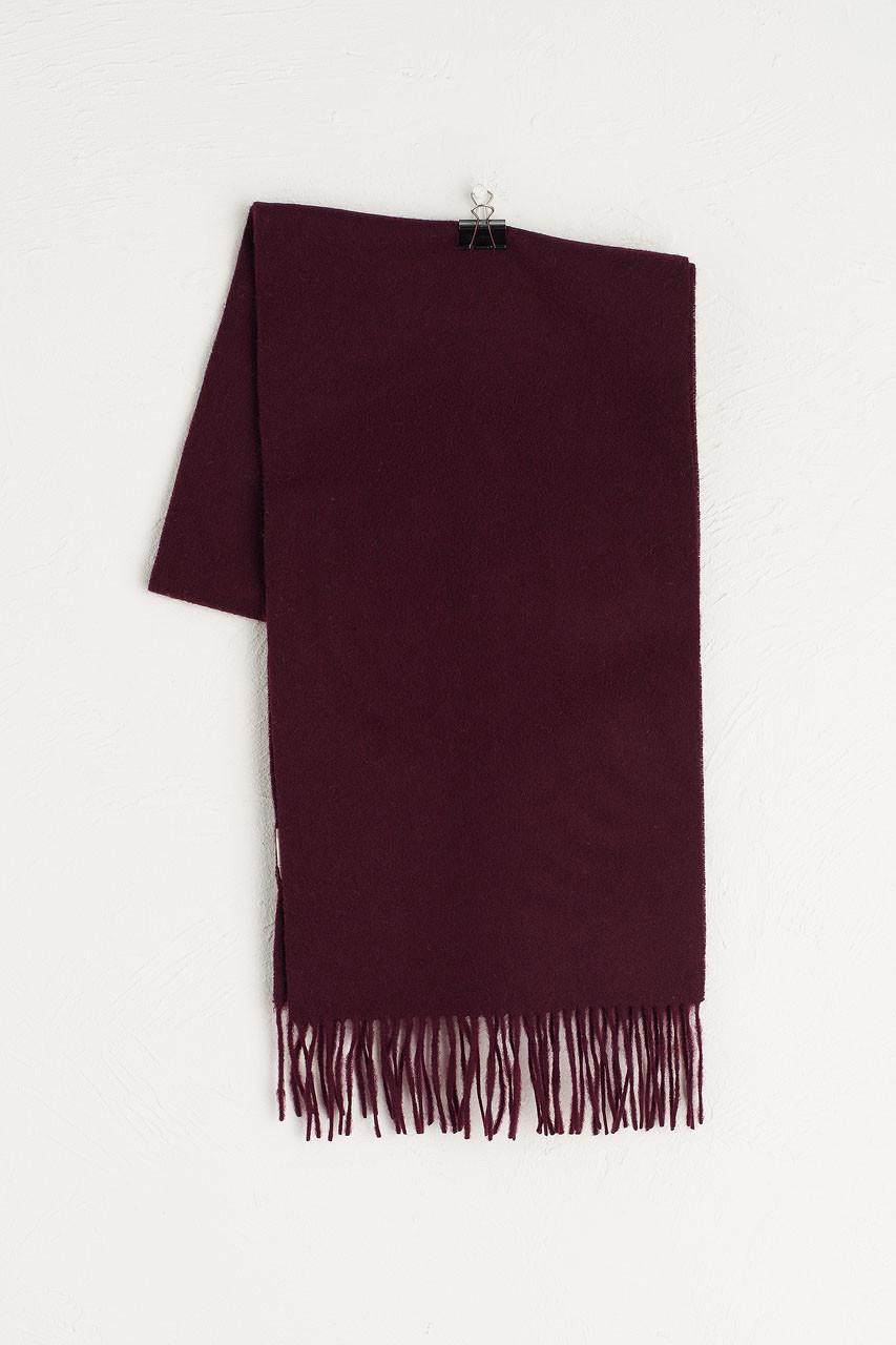 A/W 19 Mini Wool Scarf, Burgundy
