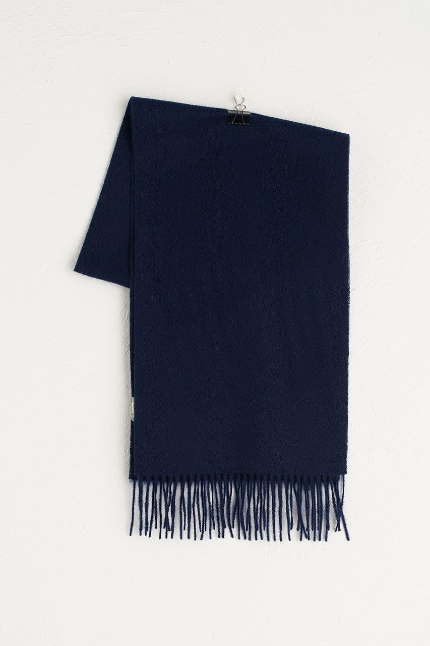 A/W 19 Mini Wool Scarf, Navy