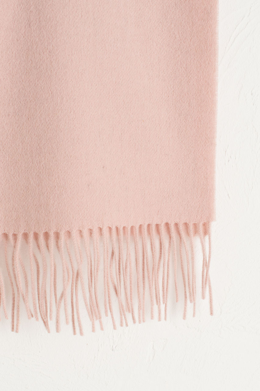 A/W 19 Mini Wool Scarf, Dusty Pink