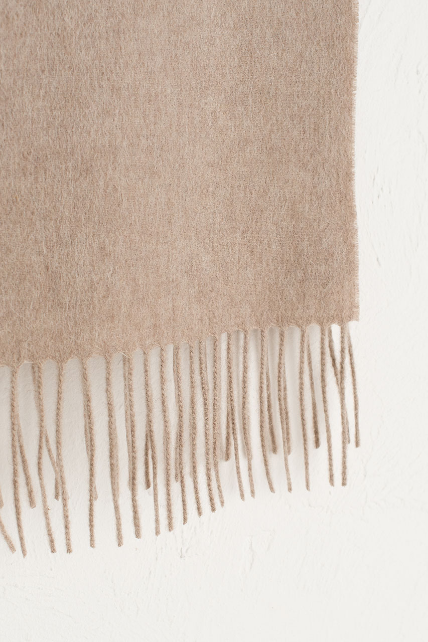 A/W 19 Mini Wool Scarf, Oatmeal