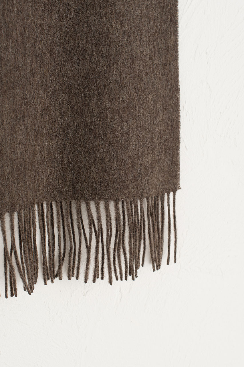 A/W 19 Mini Wool Scarf, Mocha