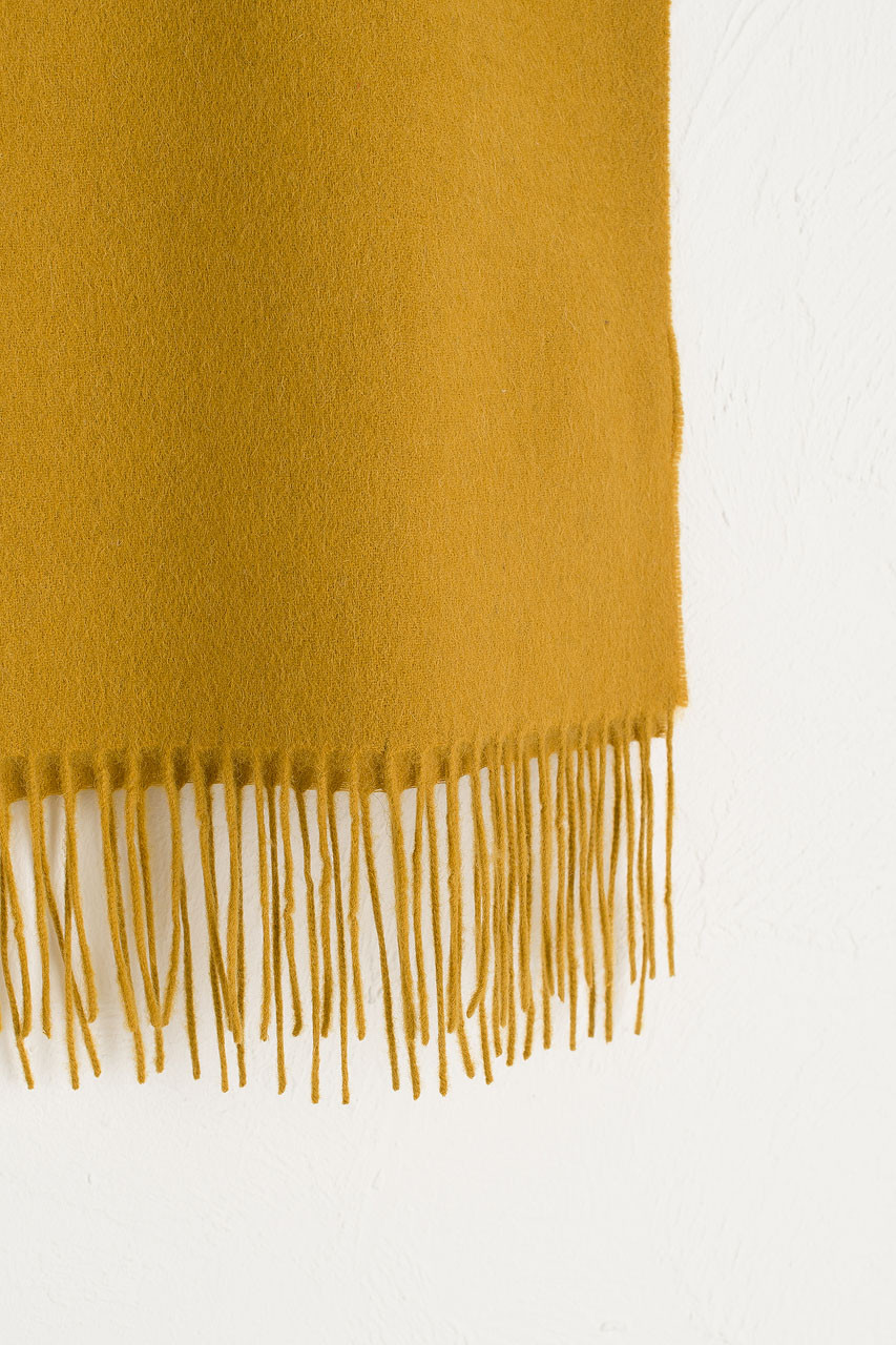 A/W 19 Mini Wool Scarf, Mustard