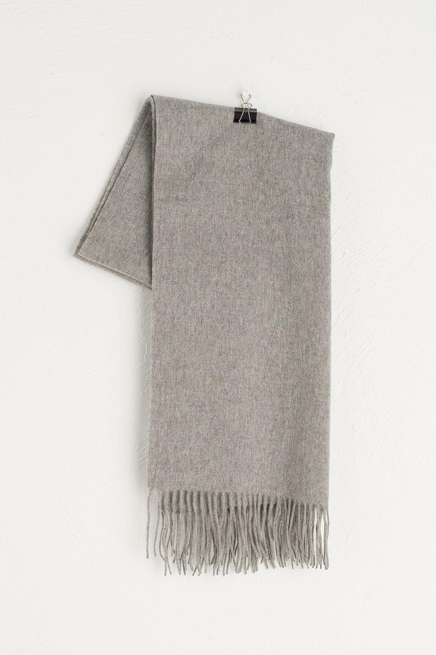 A/W 19 Large Wool Scarf, Light Grey