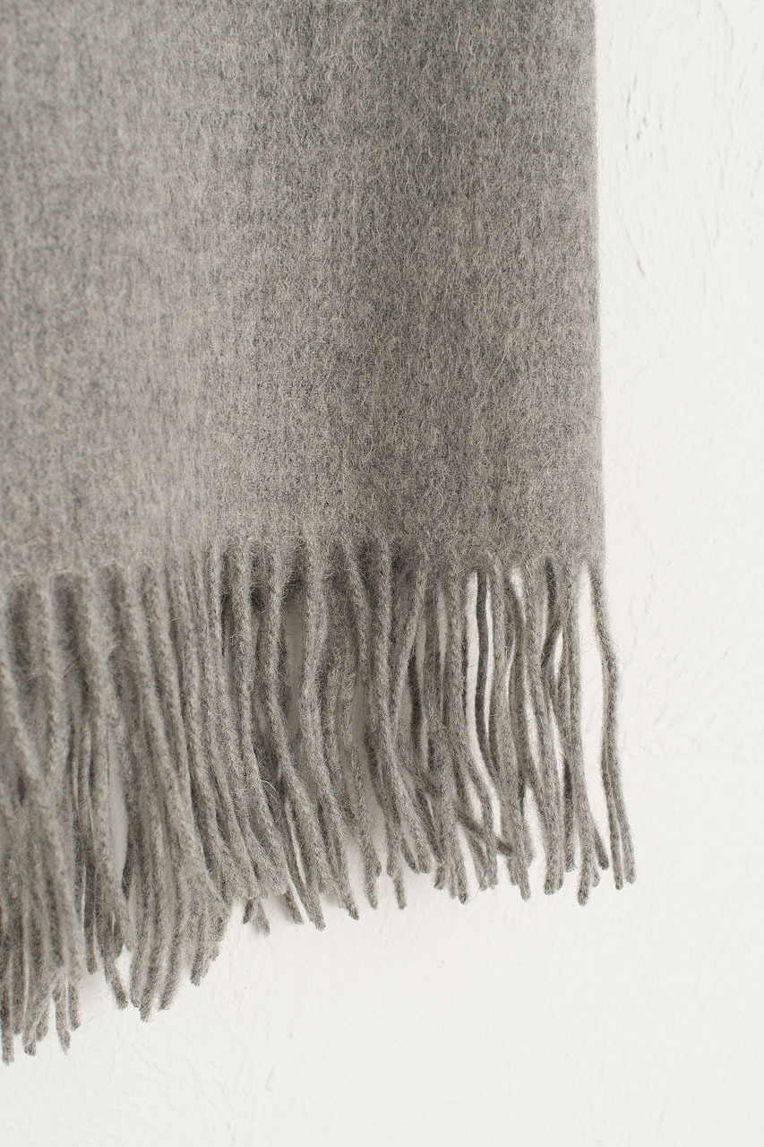 A/W 19 Large Wool Scarf, Light Grey