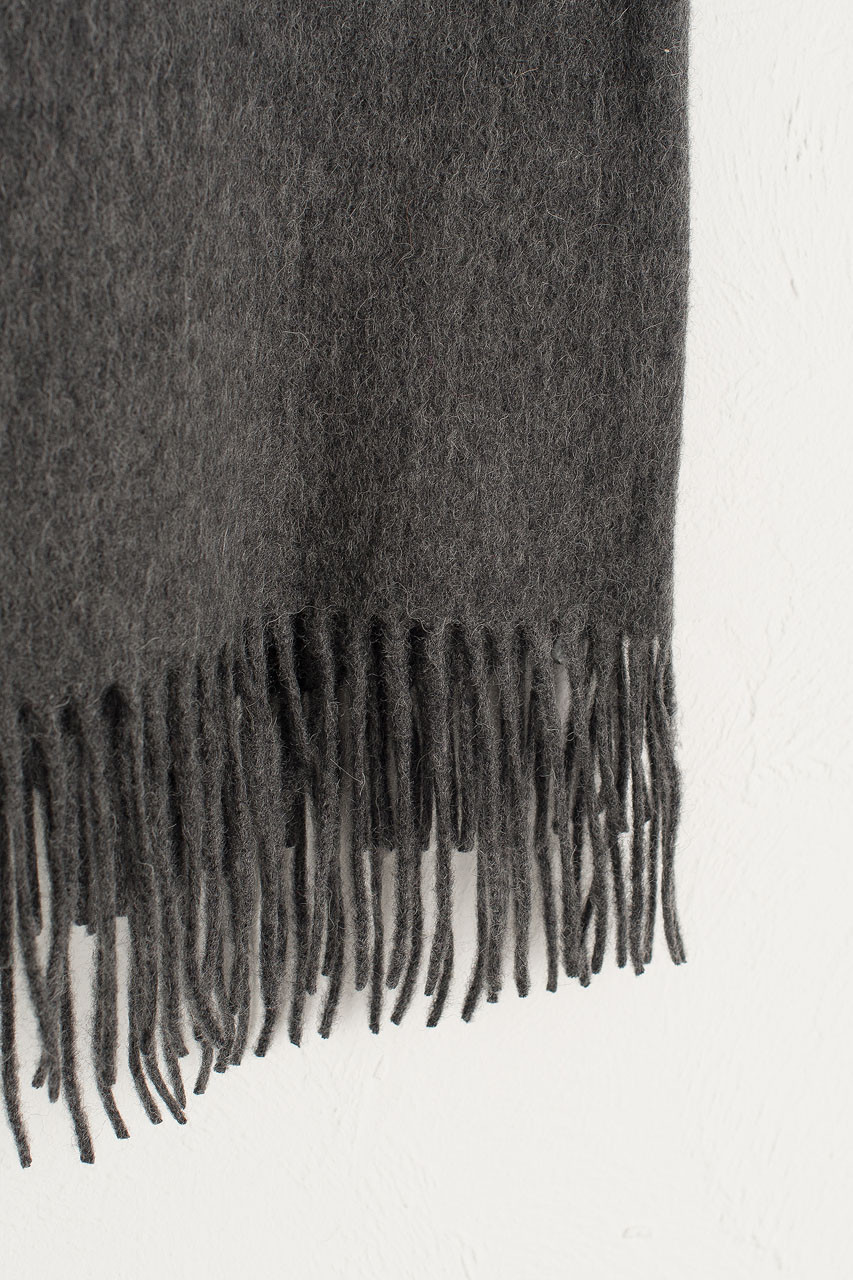 A/W 19 Large Wool Scarf, Dark Grey