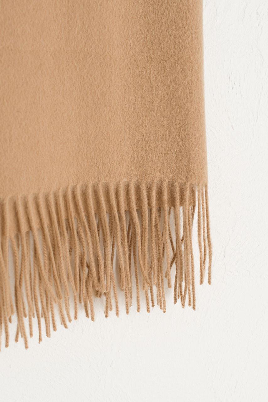 A/W 19 Large Wool Scarf, Beige