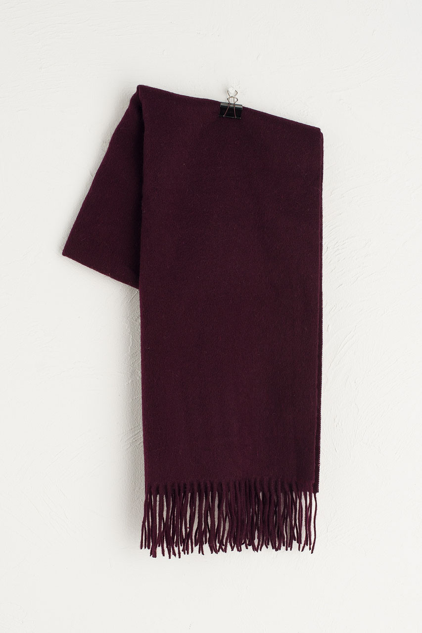 A/W 19 Large Wool Scarf, Burgundy