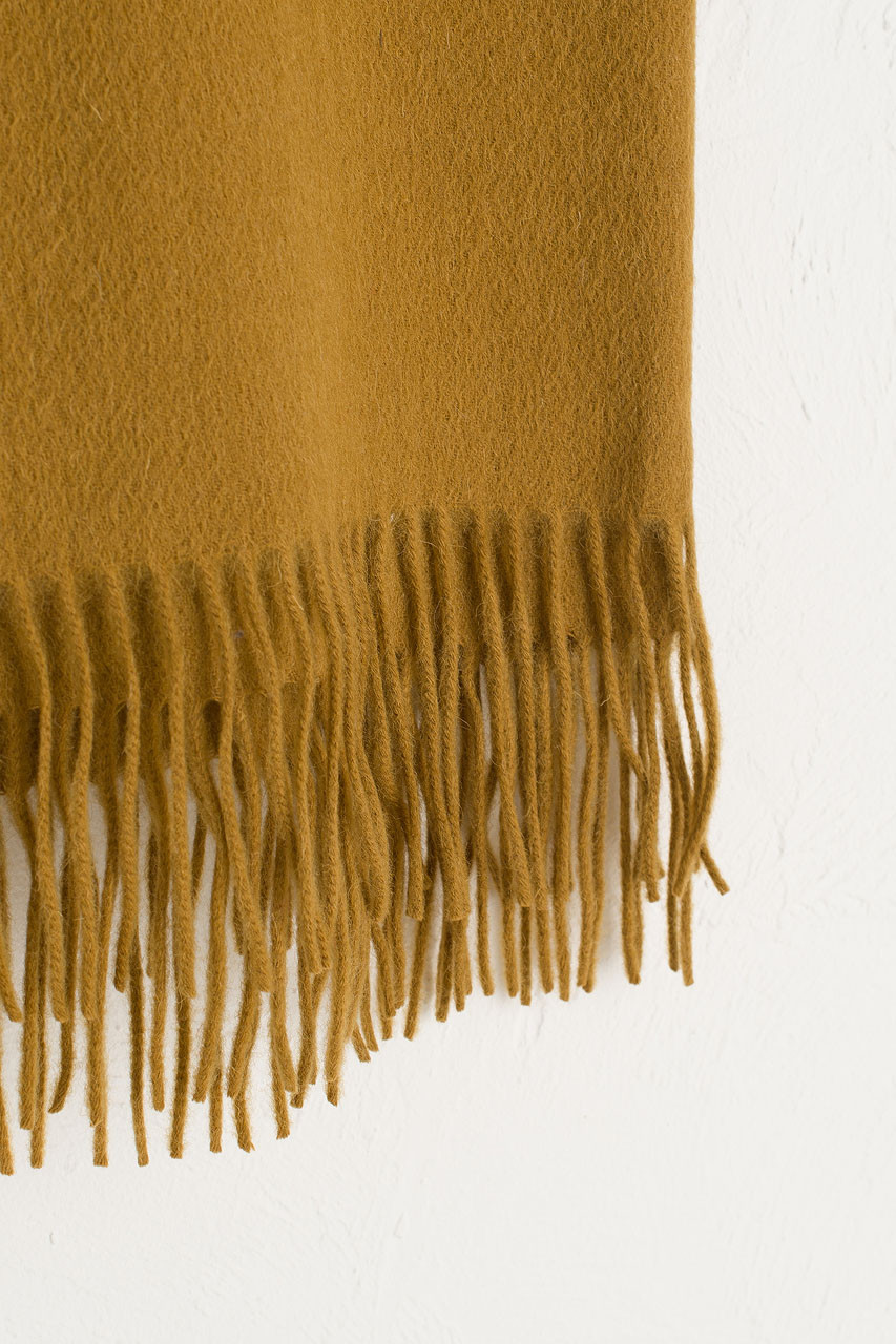 A/W 19 Large Wool Scarf, Mustard