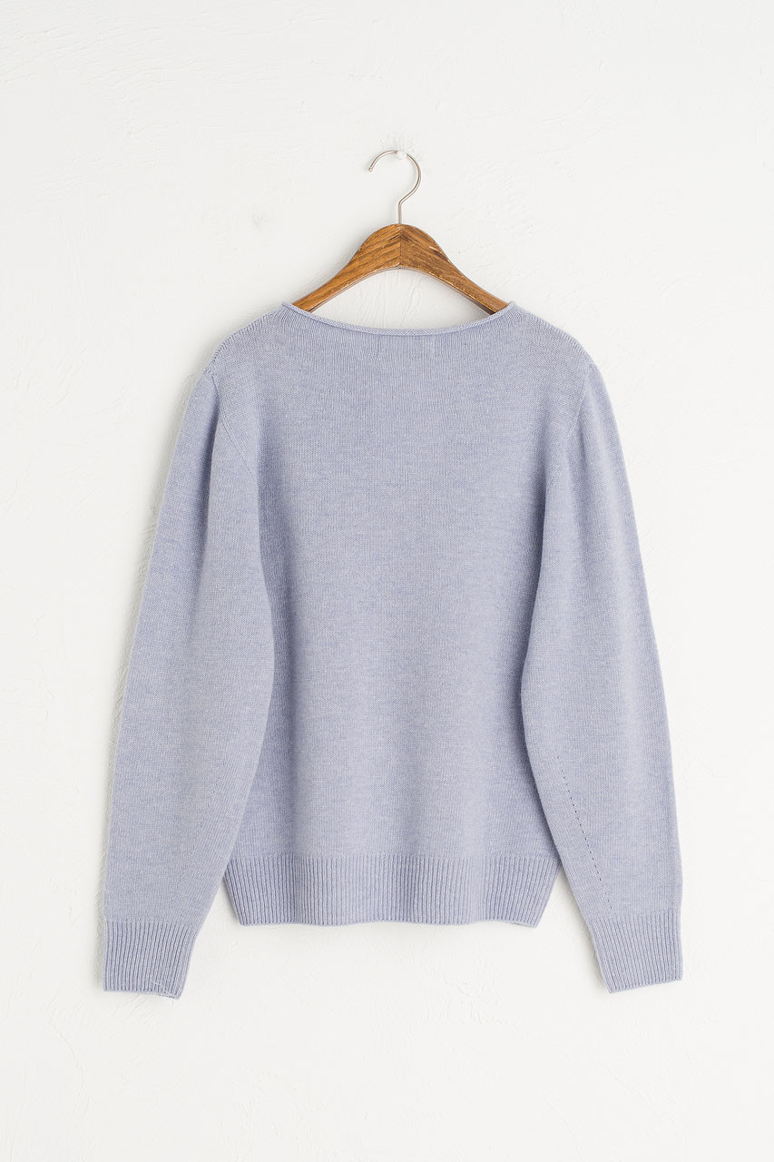 Boat Neck Spring Jumper, Blue