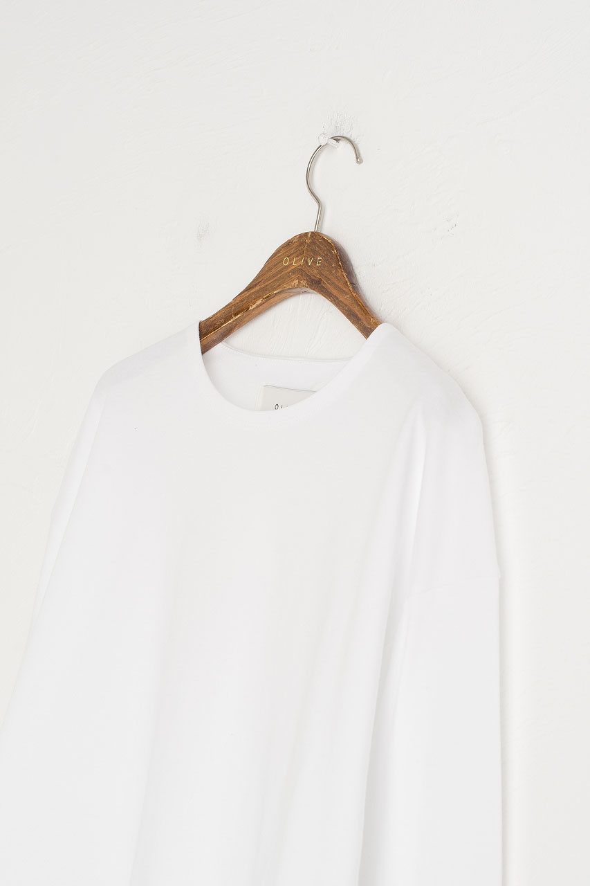 Cropped Cotton Tee, White