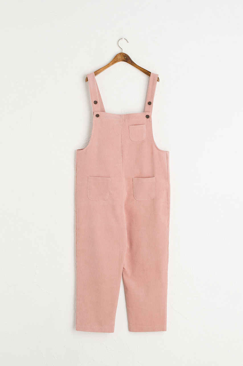 Pocket Point Corduroy Dungarees, Pink