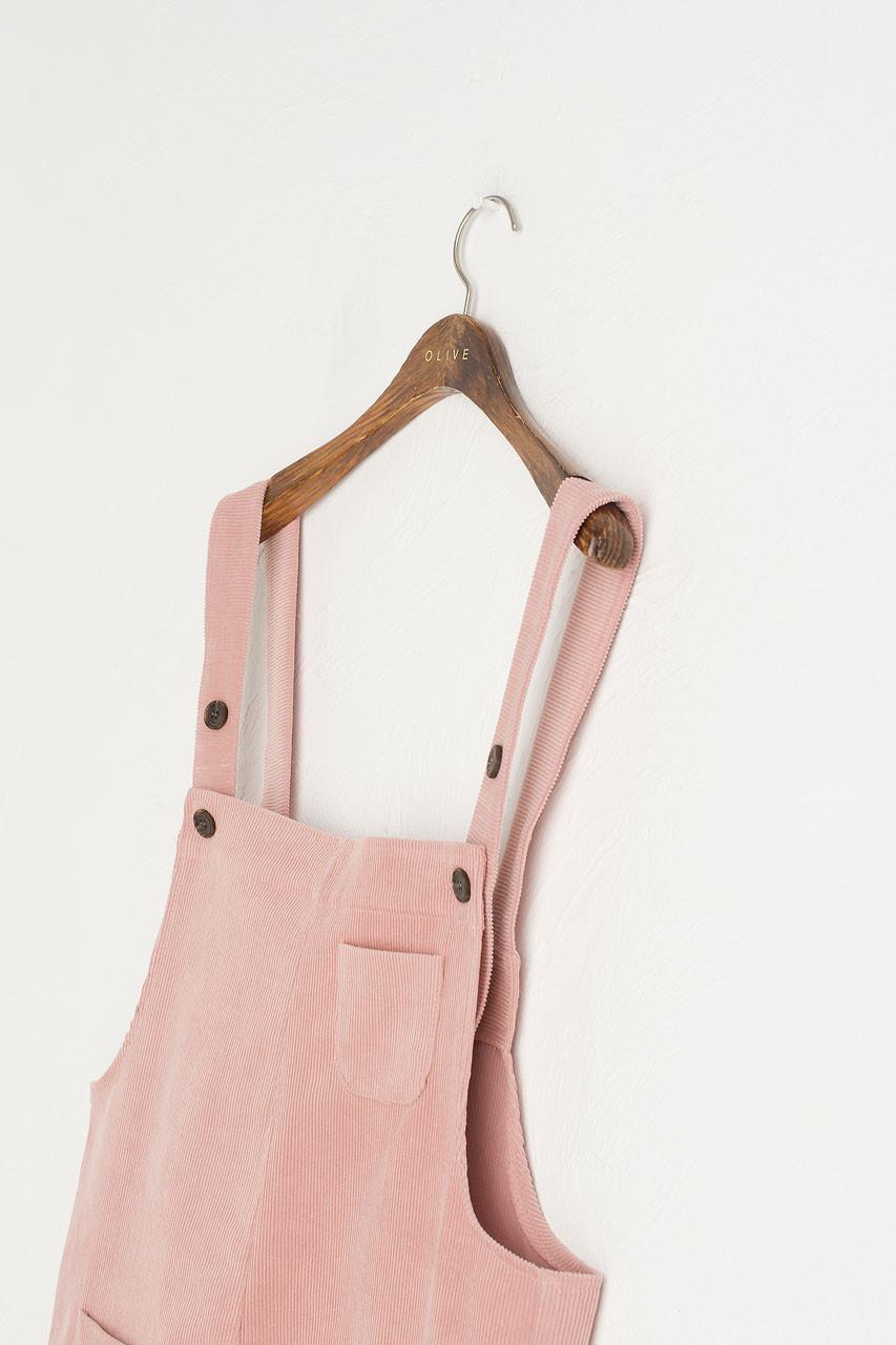 Pocket Point Corduroy Dungarees, Pink