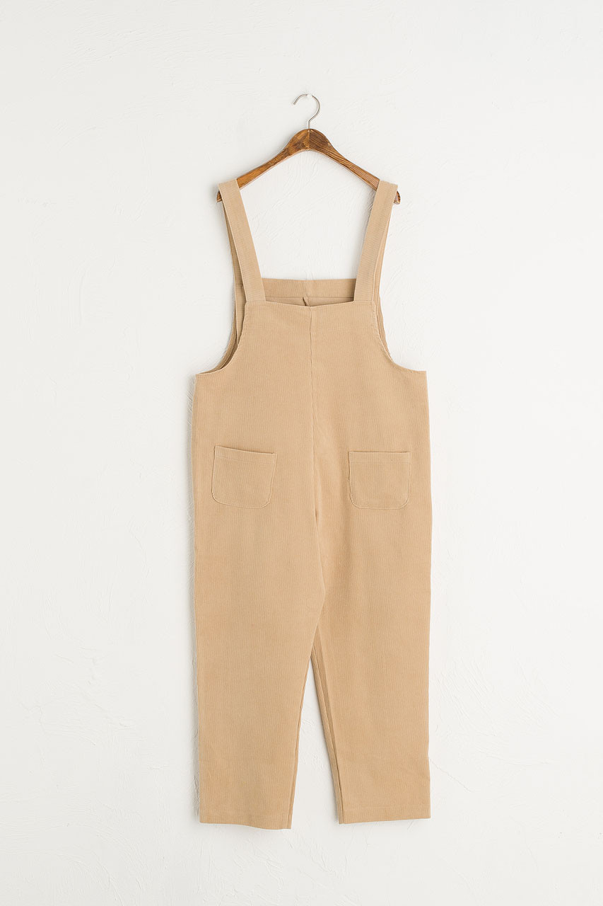 Pocket Point Corduroy Dungarees, Beige