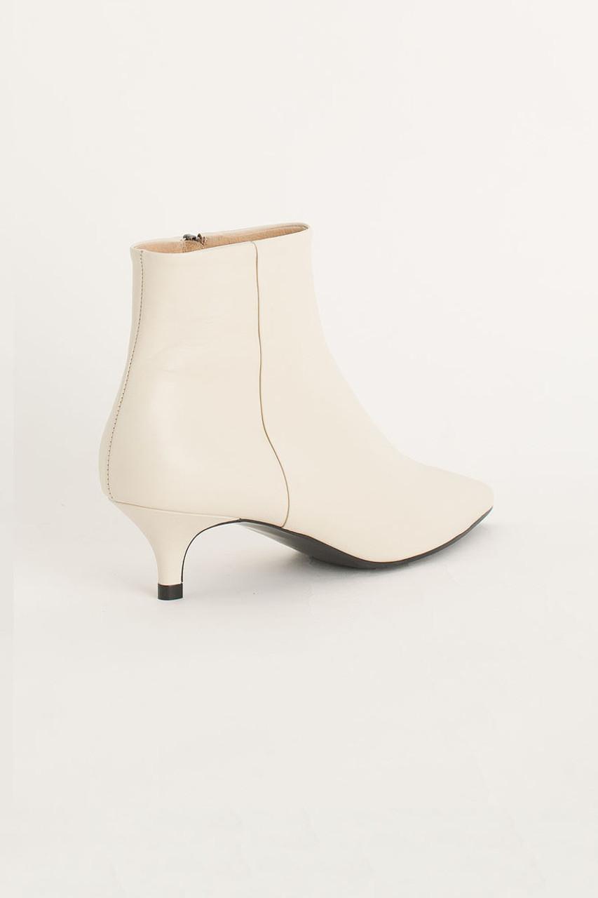 Kitten Heel Boots, Ivory