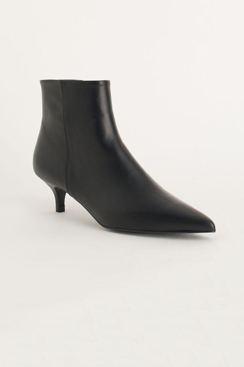 Kitten Heel Boots, Black