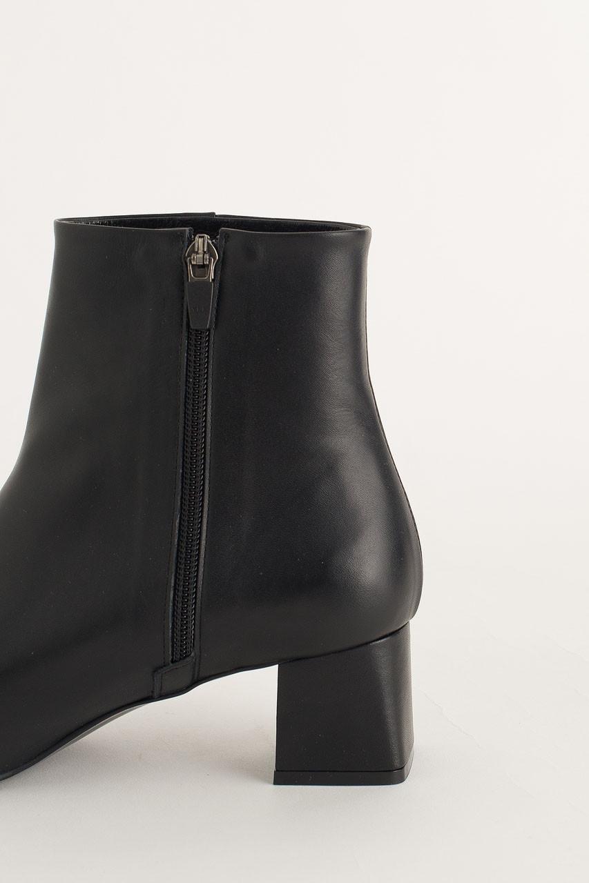 Mid Heel Ankle Boots, Black