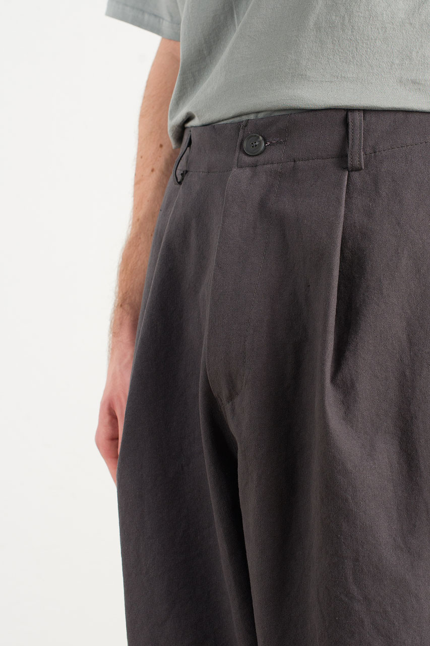 Menswear | Balloon Canvas Pants, Charcoal