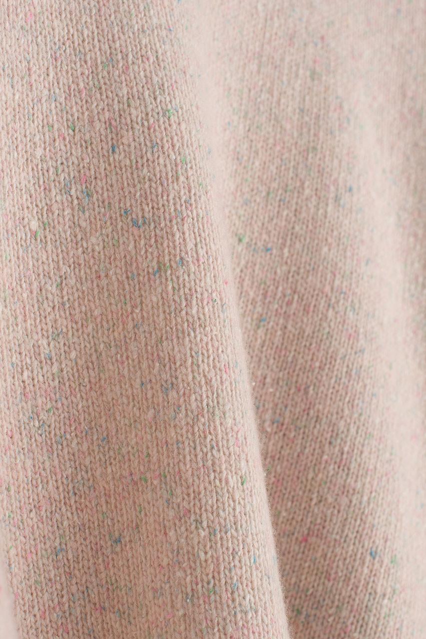 Boucle Round Neck Jumper, Light Pink