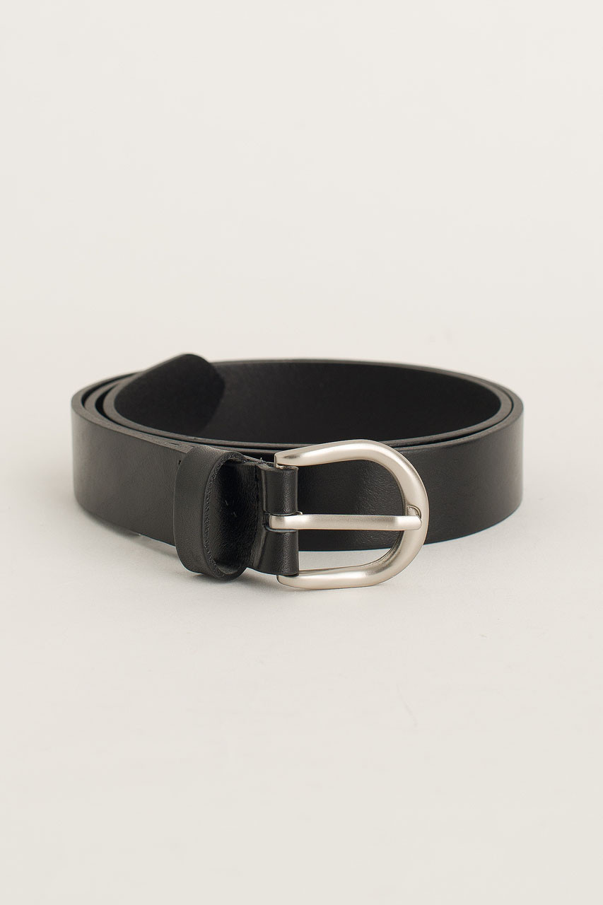 Menswear | Half Oval Belt, Black