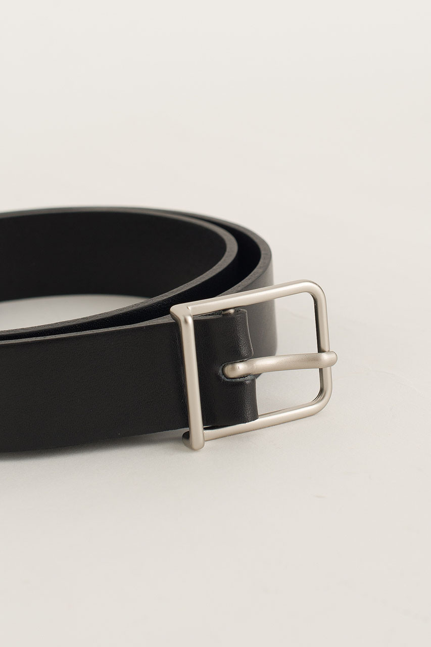 Menswear | Narrow Square Belt, Black