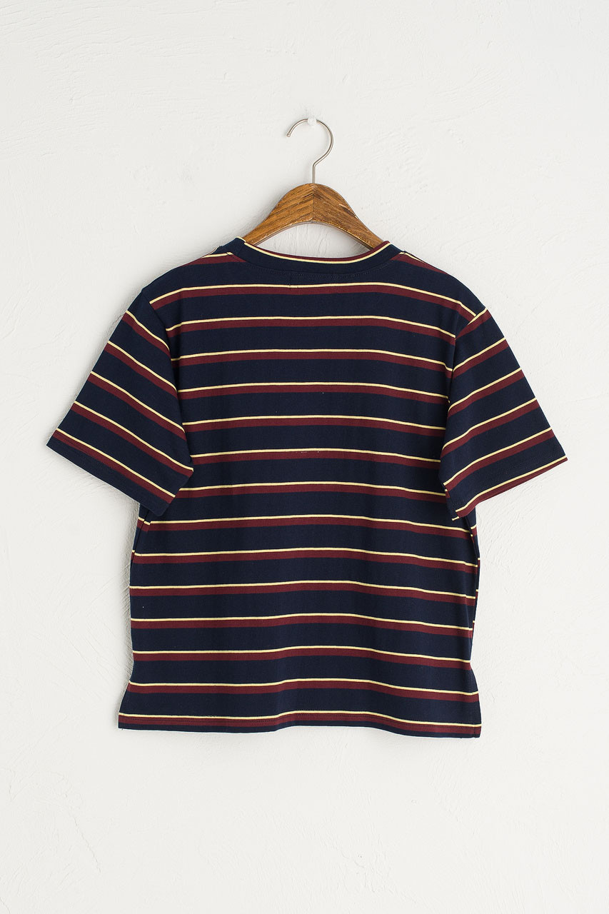 Double Stripe Short Sleeve Tee, Navy