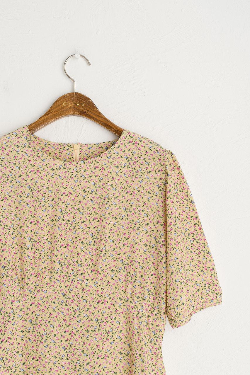 Ditsy Flower Tea Dress, Mustard