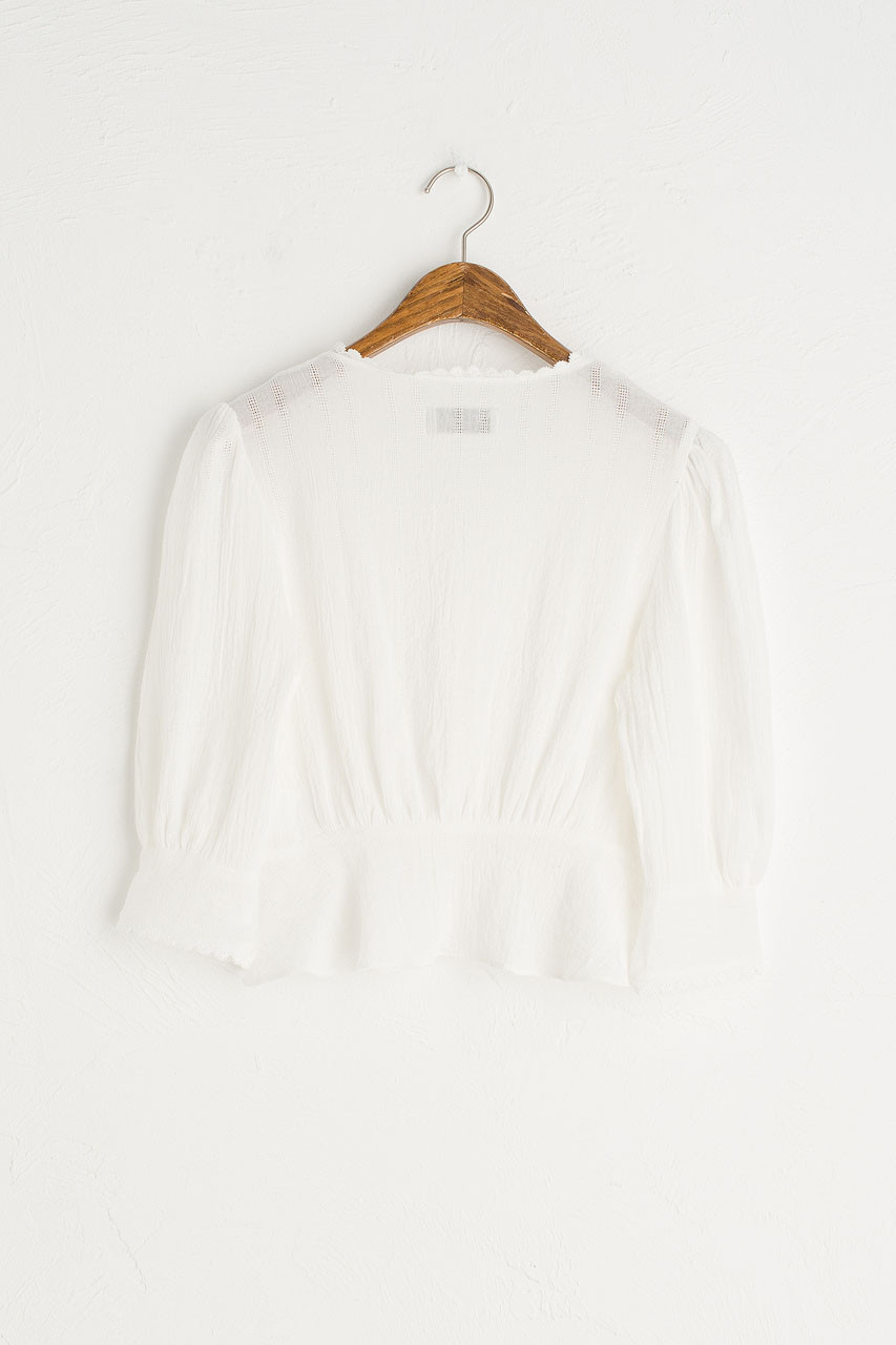 Ellie Mini Blouse, Ivory