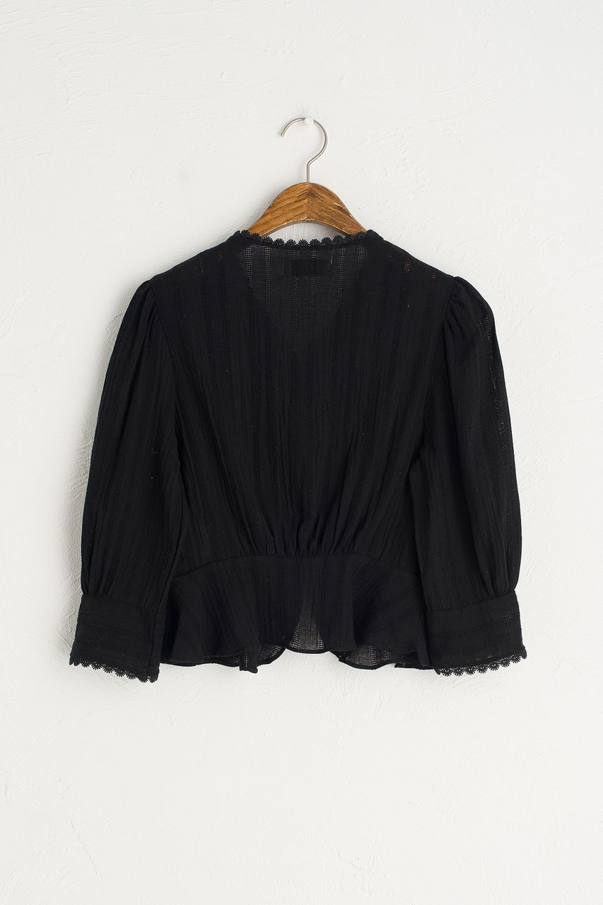 Ellie Mini Blouse, Black