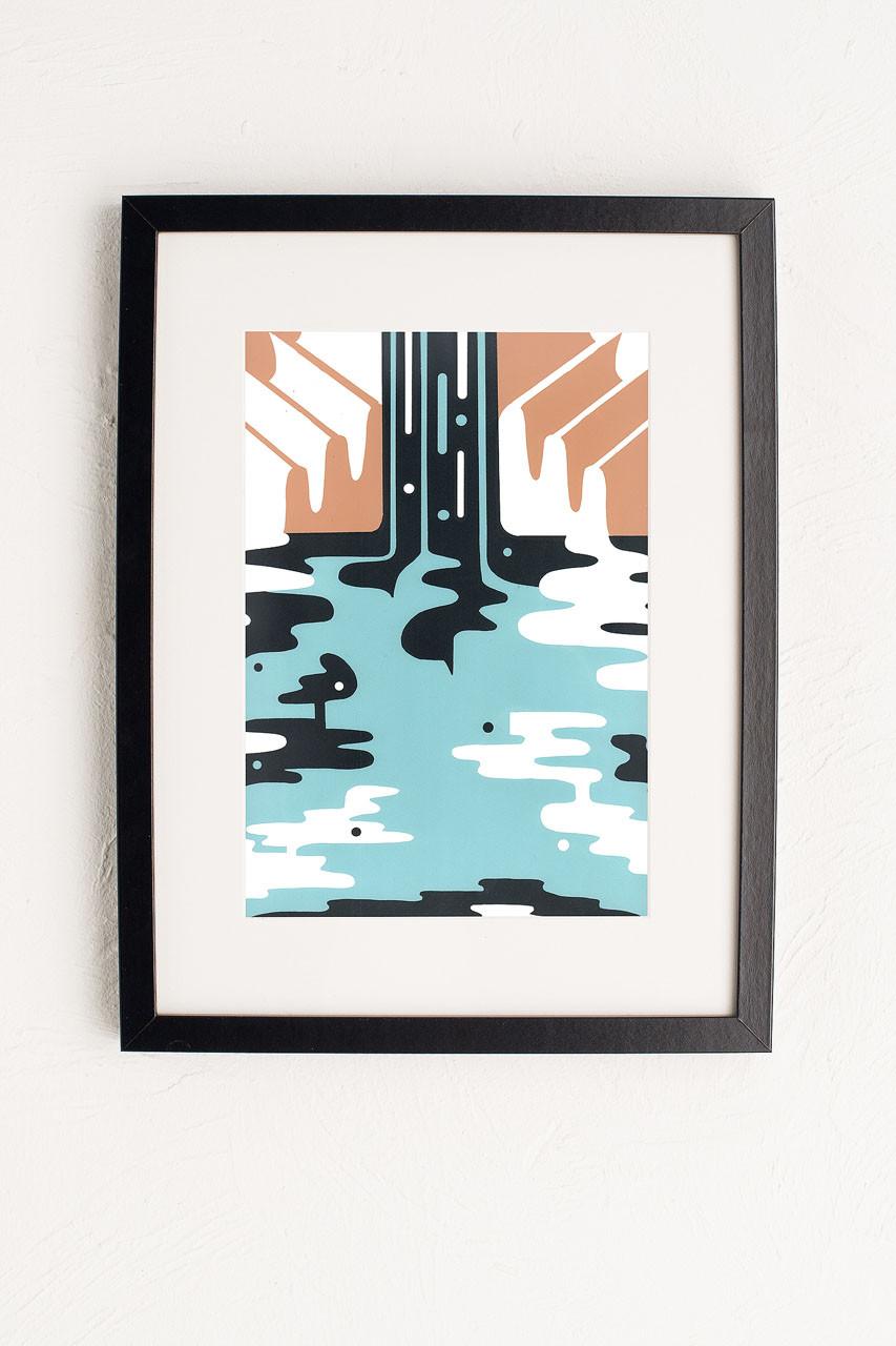 Home   Cascade Print, Blue