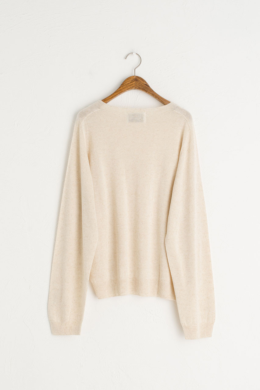Seamless Boat Neck Jumper, Oatmeal