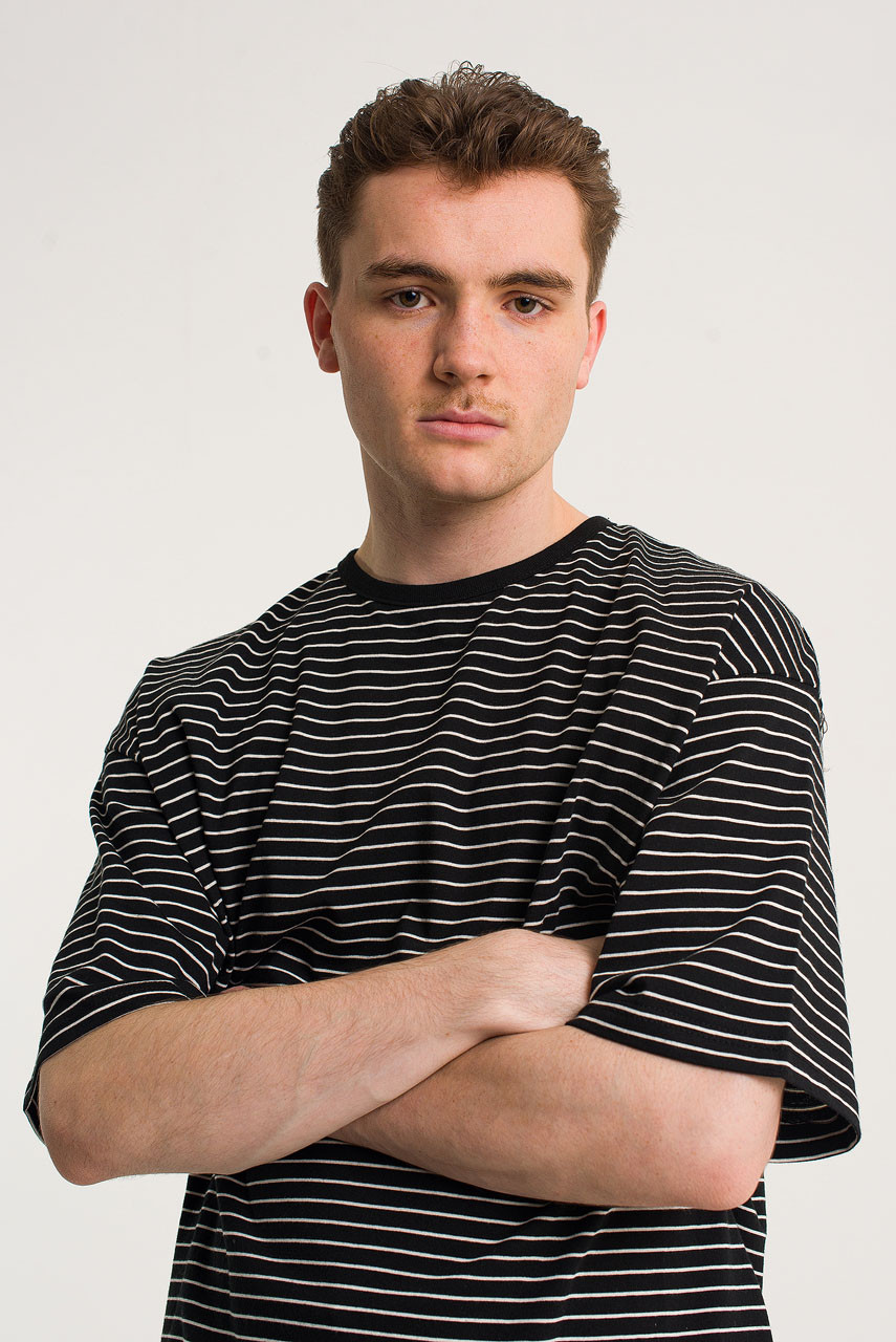 Menswear | Block Stripe Tee, Black