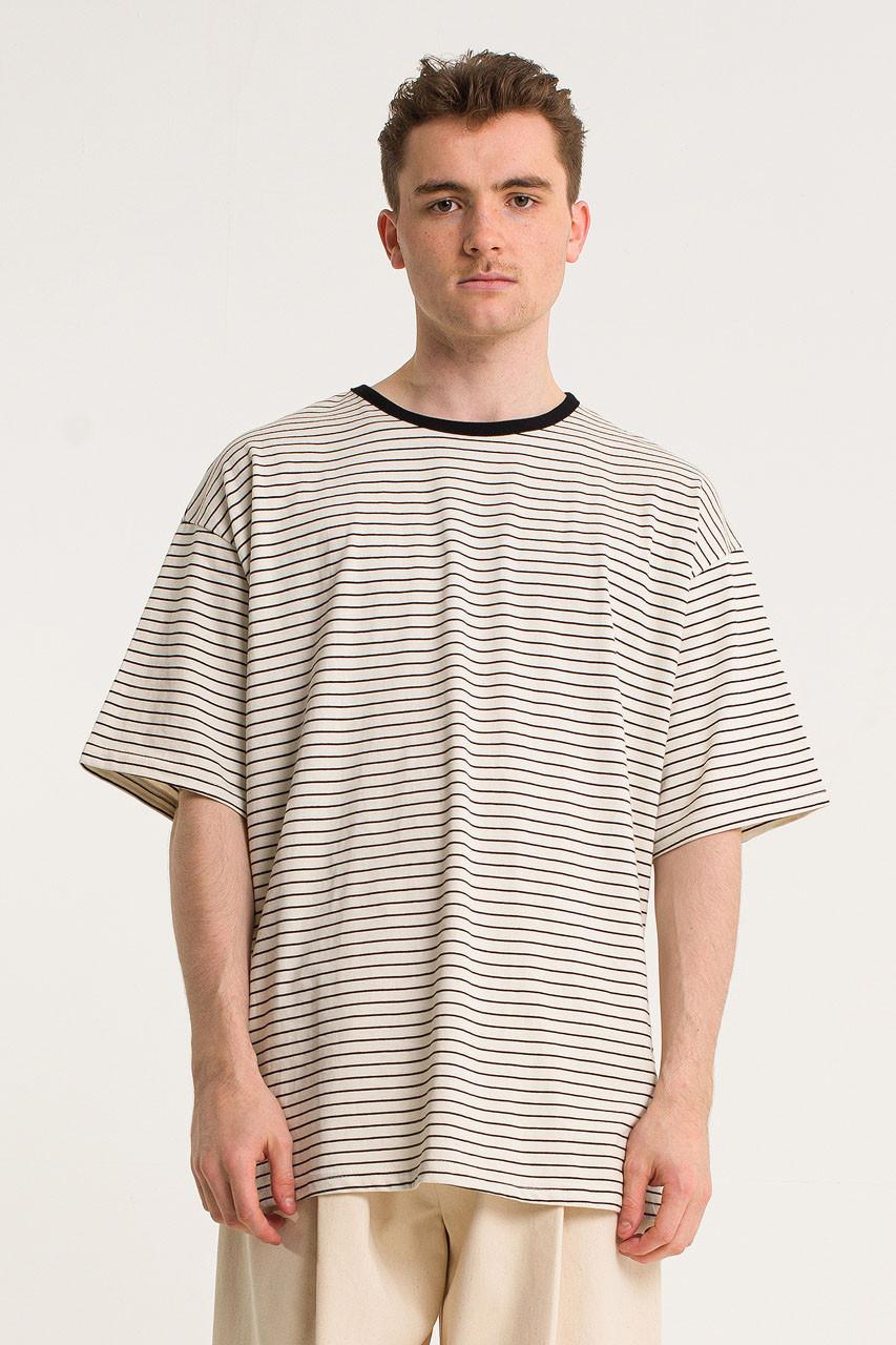 Menswear | Block Stripe Tee, Ivory