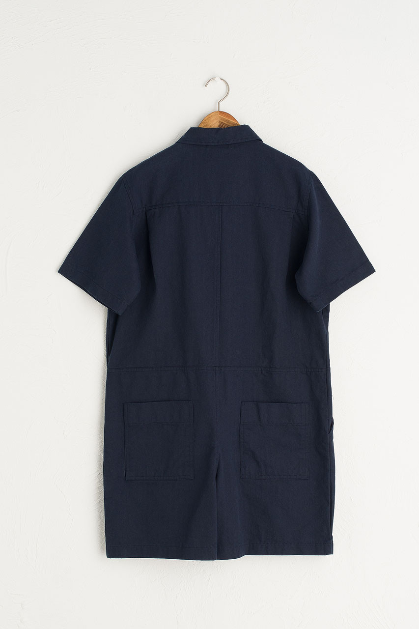 Twin Pocket Romper, Navy