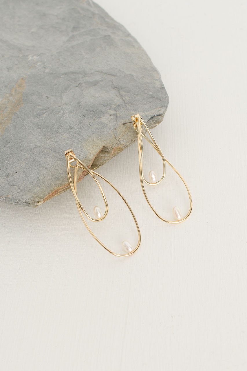 Galleria Tiered Earrings, Gold Plated