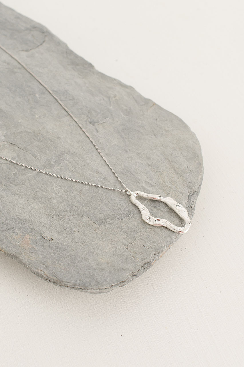 Chloe Necklace, Silver Plated