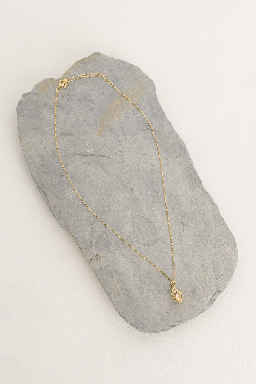 Mini Conch Necklace, Gold Plated