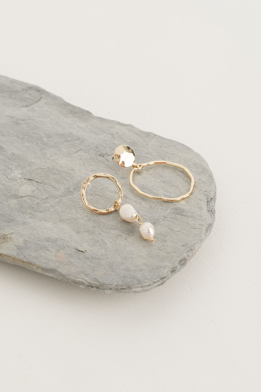 Katherine Earrings, Gold Plated