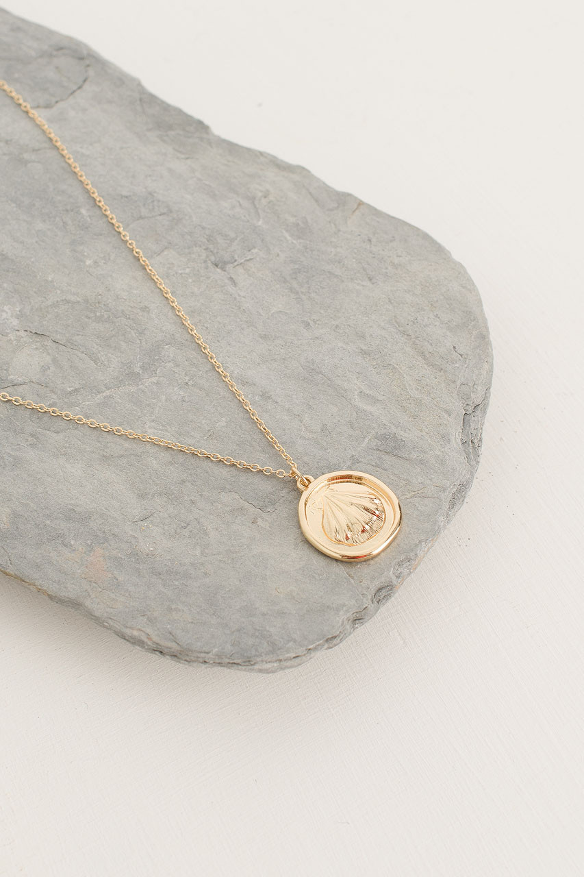 Shell Pendant Necklace, Gold Plated