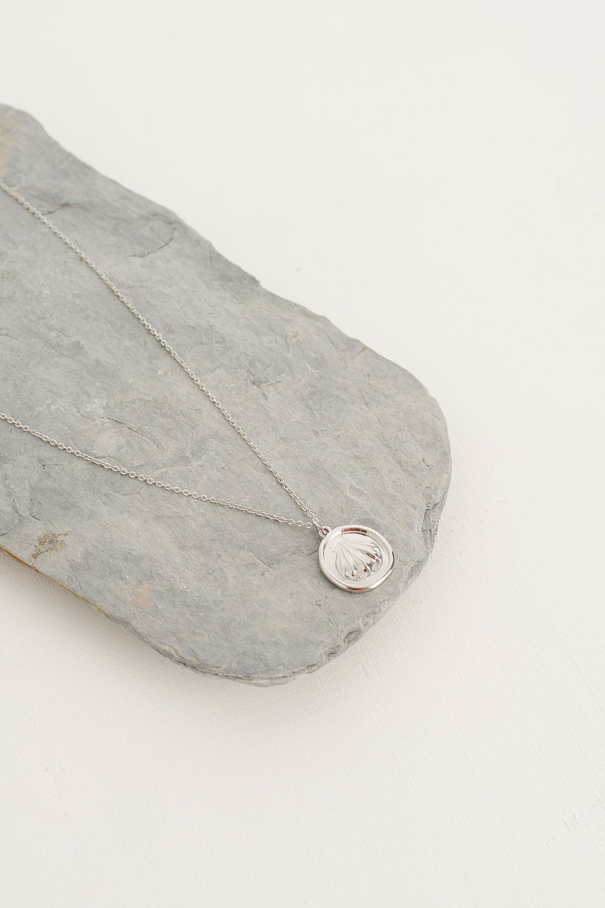 Shell Pendant Necklace, Silver Plated