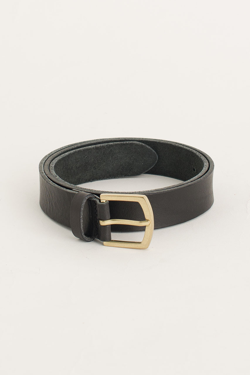 Gold Arch Buckle Belt, Black