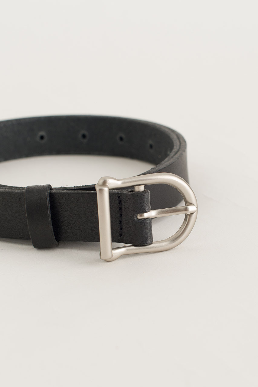 W Half Oval Belt, Black