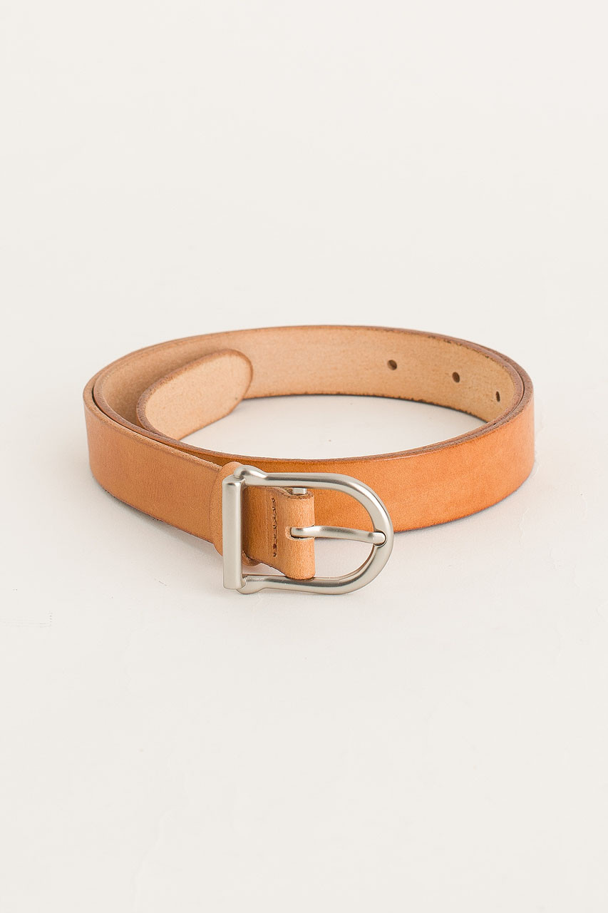W Half Oval Belt, Camel