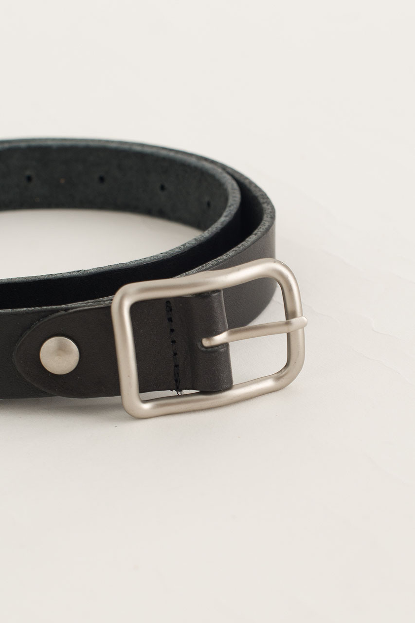 Siena Square Buckle Belt, Black
